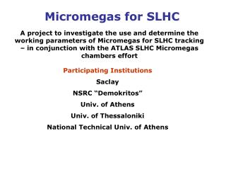 Micromegas for SLHC