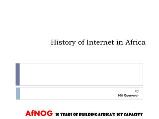 History of Internet in Africa
