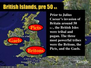 British Islands, pre 50  B.C.