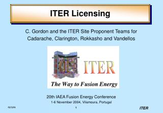 ITER Licensing