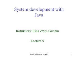 System development with  Java