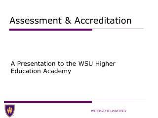 Assessment & Accreditation
