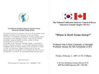 """ Where is North Korea Going? ""    Professor Han S.Park (University of Georgia)"