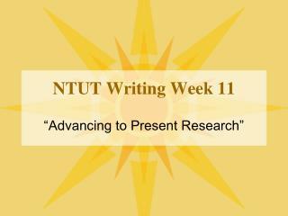 NTUT Writing Week 11
