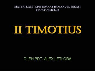 II TIMOTIUS