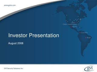 February 2007 Investor Presentation