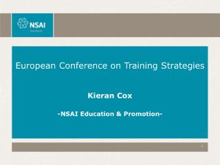 European Conference on Training Strategies