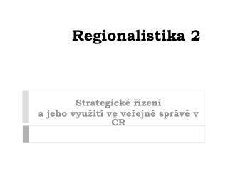 Regionalistika 2