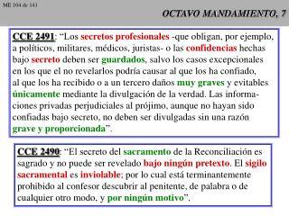 OCTAVO MANDAMIENTO, 7