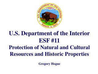 U.S. Department of the Interior ESF #11