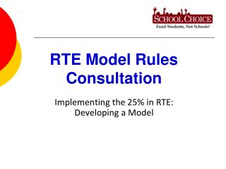 RTE Model Rules Consultation