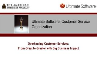 Ultimate Software: Customer Service Organization