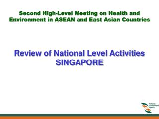 Review of National Level Activities SINGAPORE