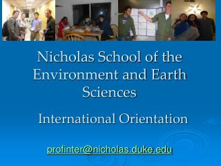 Nicholas School of the Environment and Earth Sciences