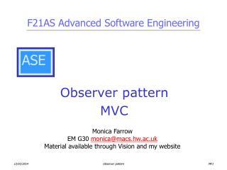Observer pattern MVC