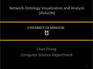 Network-Ontology Visualization and  Analysis (AVALON)