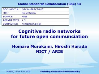 Cognitive radio networks for future open communciation