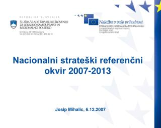 Nacionalni strateški referenčni okvir 2007-2013