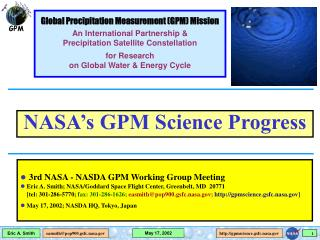 3rd NASA - NASDA GPM Working Group Meeting