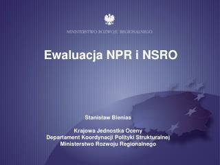 Ewaluacja NPR i NSRO