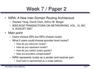 Week 7 / Paper 2