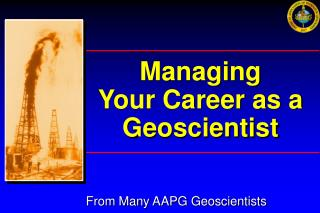 Managing Your Career as a Geoscientist