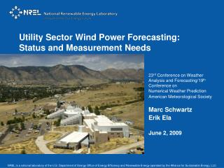 Utility Sector Wind Power Forecasting: Status and Measurement Needs