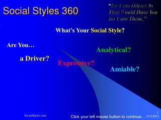 Social Styles 360