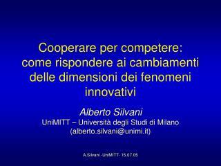 Cooperare per competere: come rispondere ai cambiamenti delle dimensioni dei fenomeni innovativi