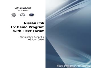 Nissan CSR EV Demo Program with Fleet Forum
