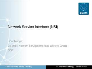 Network Service Interface (NSI)