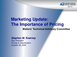 Marketing Update: The Importance of Pricing
