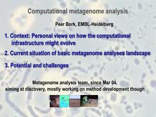 Computational metagenome analysis