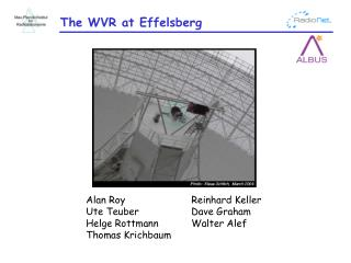 The WVR at Effelsberg