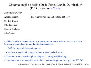 Observation of a possible Fulde-Ferrell-Larkin-Ovchinnikov (FFLO) state in  CeCoIn 5