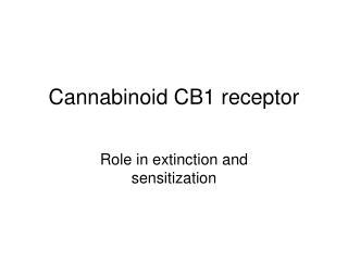 Cannabinoid CB1 receptor