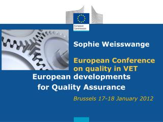 Sophie Weisswange European Conference on quality in VET