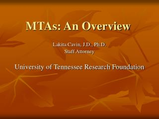MTAs: An Overview