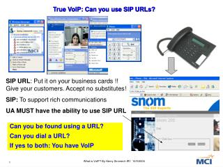 True VoIP: Can you use SIP URLs?