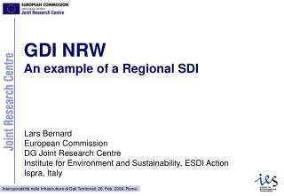 GDI NRW  An example of a Regional SDI
