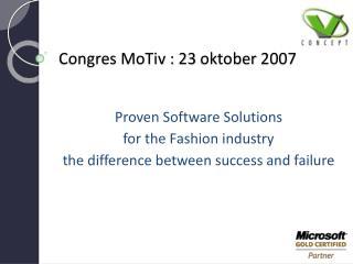Congres MoTiv : 23 oktober 2007