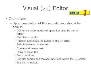 Visual ( vi ) Editor