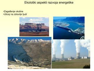 Ekolo �ki aspekti razvoja energetike