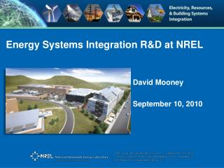 Energy Systems Integration R&D at NREL