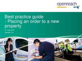 Best  practice  guide - Placing an order to a  n ew property