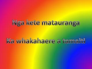 Nga kete matauranga Ka whakahaere  a  tamaiti