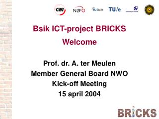 Bsik ICT-project BRICKS Welcome