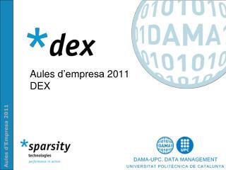 Aules d'empresa  2011 DEX