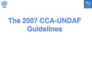 The 2007 CCA-UNDAF Guidelines