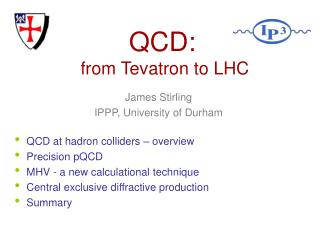 QCD:  from Tevatron to LHC